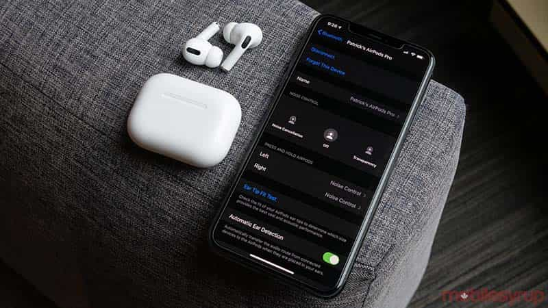 cach tim airpods pro bang find my network tren ios 15 1