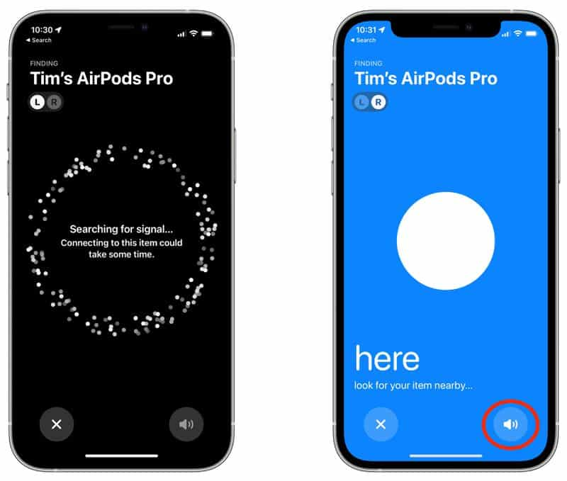 cach tim airpods pro bang find my network tren ios 15 3